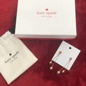 Kate Spade Hanging Earrings Brand New Tags and Box